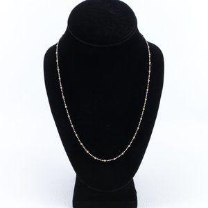 "18k Two-Tone Diamond Cut Beaded Necklace 20"""